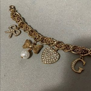 Guess Jewelry - [FREE WITH PURCHASE] Guess Gold Charm Bracelet
